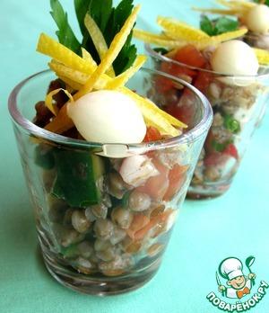 Рецепт Салат с гречкой и овощами