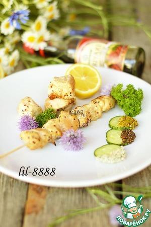 Рецепт Шашлык из курицы в маринаде с маринованными лимонами