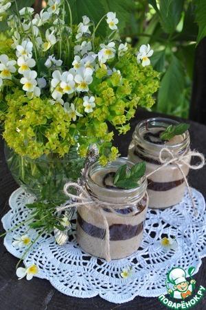 Рецепт Кофейный манный мусс с шоколадной прослойкой