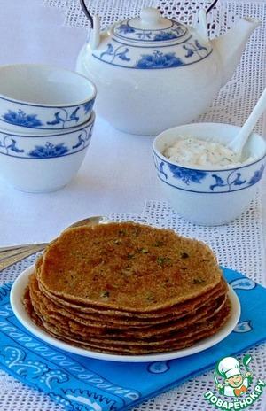 Рецепт Гречневые блинчики с баклажаном