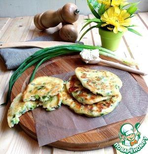 Рецепт Оладьи с сыром и зеленым луком