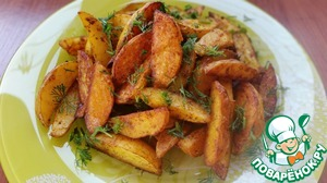 Рецепт Картошка по-деревенски в духовке