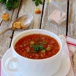 Холодный томатный гречневый суп