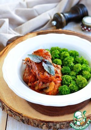 Рецепт Котлеты из гречки в томатном соусе с грибами