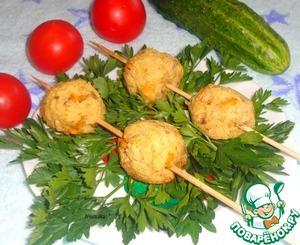 Рецепт Шашлык из рыбно-рисовых тефтелей