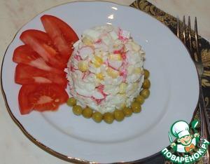 Рецепт Забытый салат из крабовых палочек