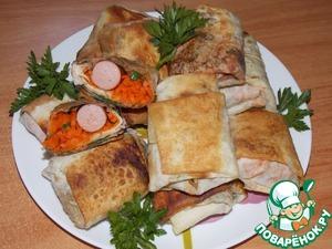 Рецепт Хрустящий лавашик с начинкой