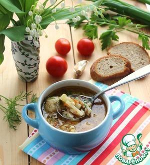 Рецепт Рассольник рыбный с фрикадельками