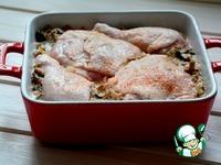 Гречка с курицей, запеченная в сливках ингредиенты