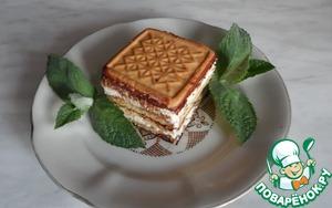 Рецепт Пирожное из печенья и творога без выпечки