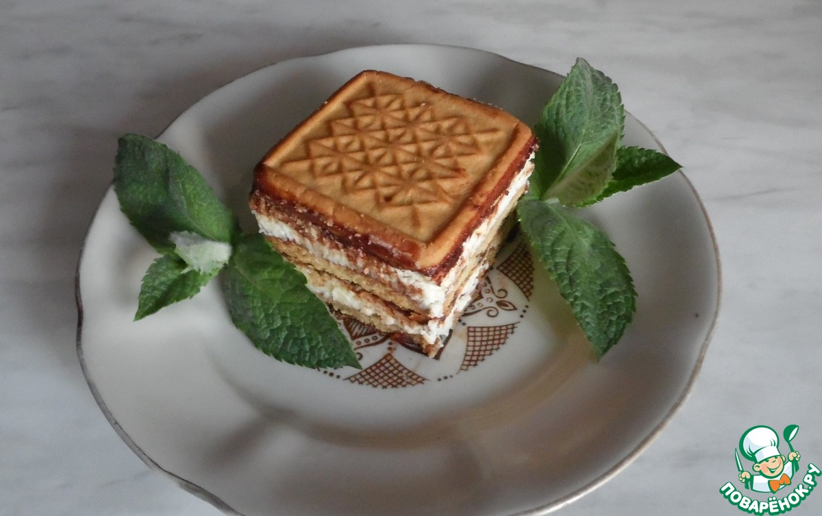 Пирожные из печенья