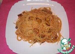 Рецепт Спагетти с мидиями в томатном соусе