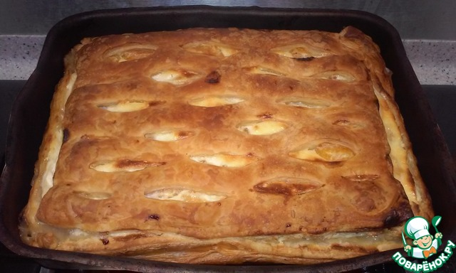 Пирог с фруктами и с творогом рецепт