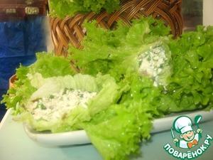 """Рецепт Творожные сырые голубцы из салата-""""Фитнес"""""""