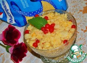Рецепт Пшенная каша с яблоком, тыквой и ягодами