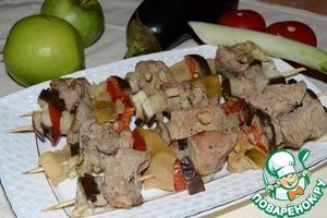 Шашлык из свинины с яблоком и овощами простой пошаговый рецепт приготовления с фотографиями как приготовить