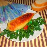 Картофельный шашлык с рыбой в томате