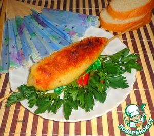 Рецепт Картофельный шашлык с рыбой в томате