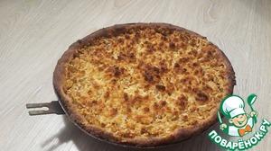 Рецепт Яблочный пирог на рисовой муке без яиц