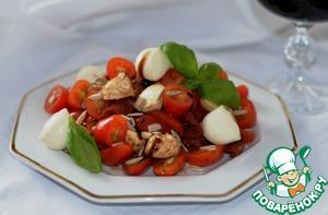 Рецепт Салат с моцареллой и вялеными томатами