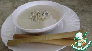 Рецепт Крем-суп из цветной капусты с яблоком и голубым сыром