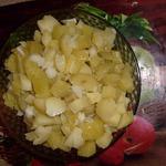 Картофельный салат для поста