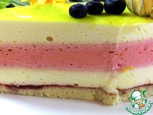 Лимонно-клубничный торт рецепт