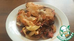 Рецепт Кета в томатно-мятном соусе