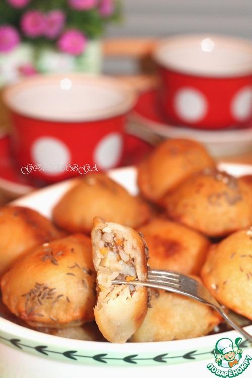Пирожки на кефире сковороде рецепты 61