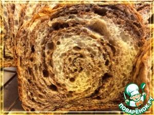 Рецепт Шоколадный мраморный хлеб