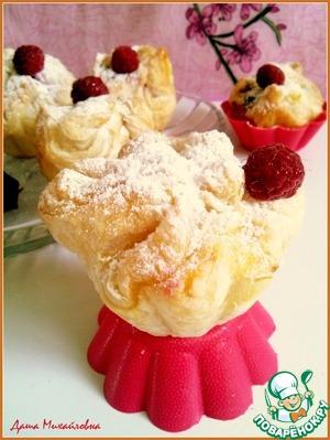 Рецепт Воздушные пирожки с малиной в шоколаде