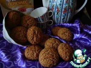 Рецепт Печенье овсяное с ржаной мукой