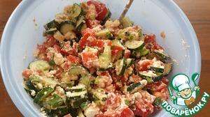 Рецепт Салат из огурцов, помидоров и домашнего сыра