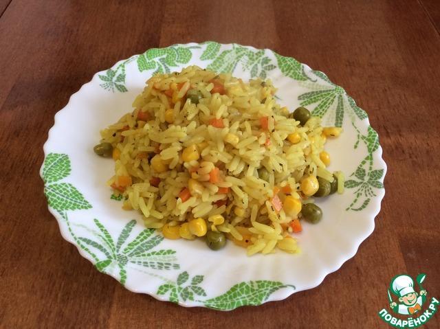Рис с кукурузой и курицей в мультиварке рецепт с фото