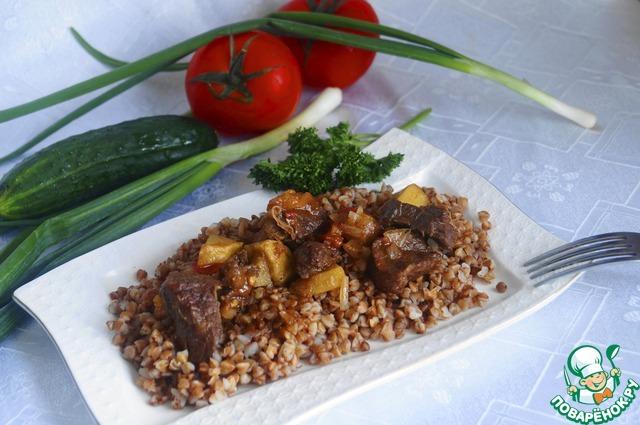 Гречка с говядиной в духовке рецепт с пошагово