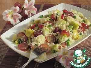 Рецепт Cалат с кус-кусом, грушей и виноградом