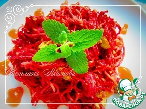Рецепт Спагетти со свеклой и печенью