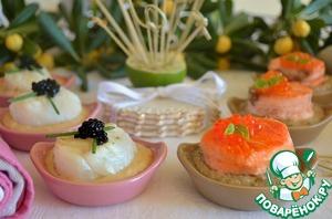 Рецепт Канапе из рыбы с соусами