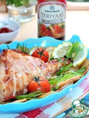 Рецепт Морской окунь с кабачками