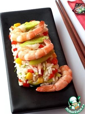 Рецепт Теплый салат с рисом