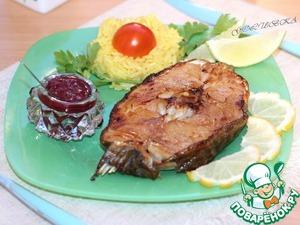 Рецепт Белая рыба с соусом из черной смородины