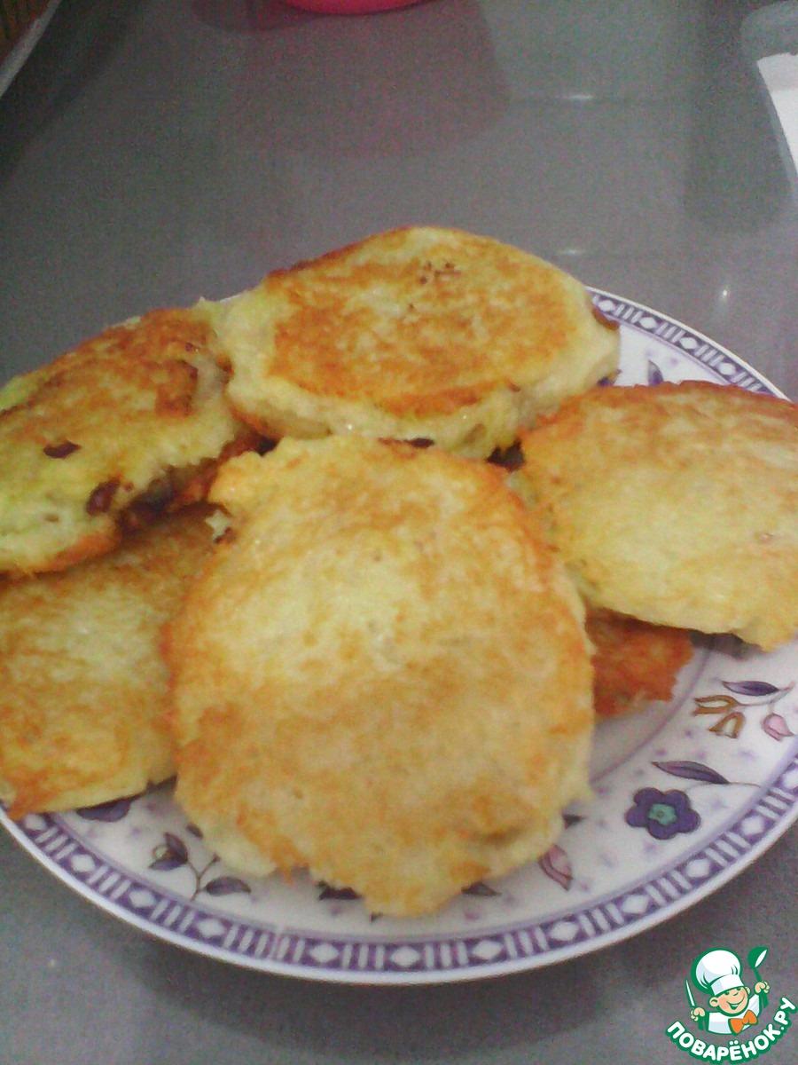 Картофельные оладьи с мясным фаршем пошаговый рецепт