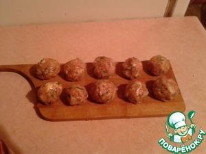 Рецепт Зеленые тефтели с чесноком