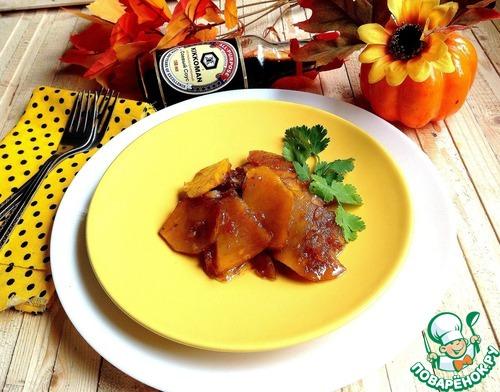 Готовим Тушеная гарнирная тыква домашний рецепт приготовления с фото пошагово #4
