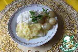 """Рецепт Рыба с соусом """"Белое масло"""""""