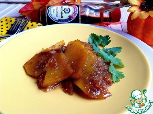 Готовим Тушеная гарнирная тыква домашний рецепт приготовления с фото пошагово #6