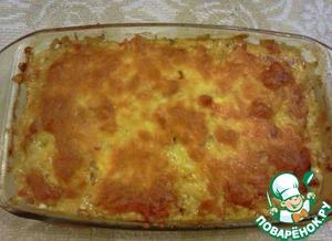 Рецепт Куриная печень с овощами и сыром