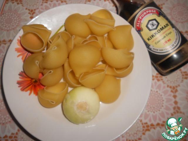 макароны сапожки с фаршем в духовке рецепт с фото