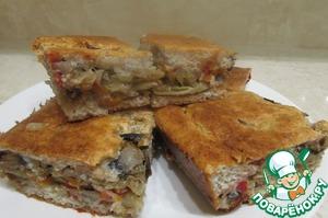 Рецепт Диетический пирог с капустой и грибами