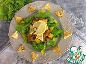 Рецепт Теплый салат с адыгейским сыром и лимонным соусом